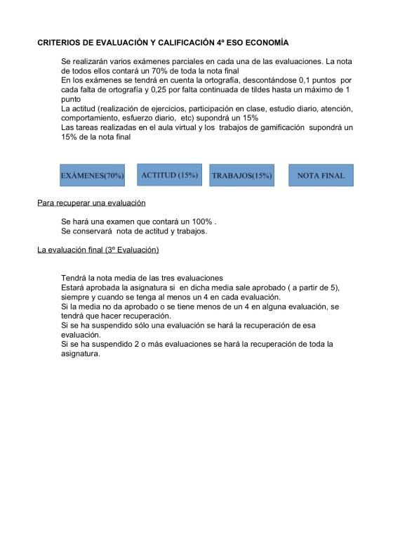 Criterios de Economía.